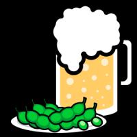 枝豆ビールbbeer_mug-green-soybeans
